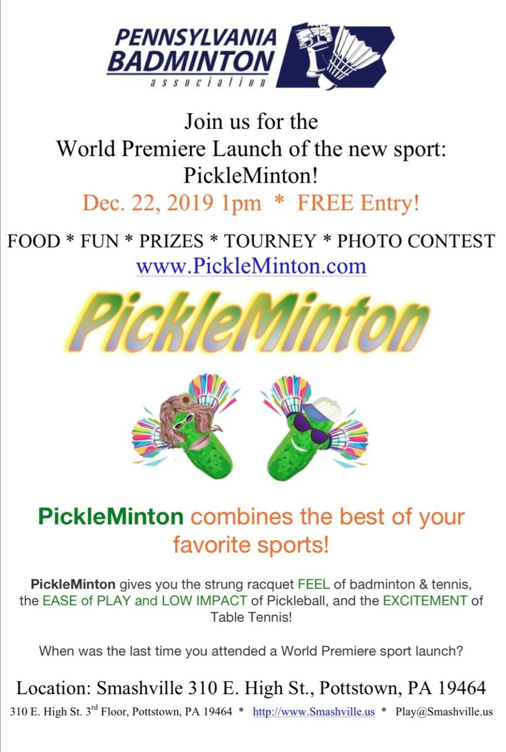 PickleMinton tourney flyer